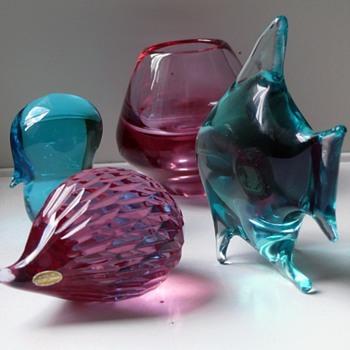 Zeleznobrodske animals designed by Janku Miloslav - Art Glass