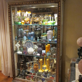 This is our second display case, mostly color art glass - Art Glass