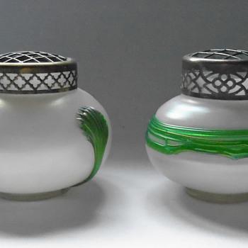 Kralik Corded Iridescent Rose Bowl - Art Glass