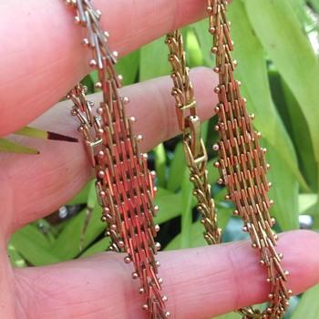 2 Gold Tone Jakob Bengel Bracelets. - Art Deco