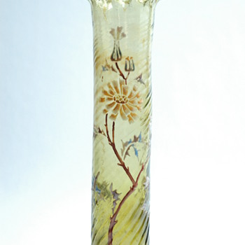rare enamel bud vase probably by DESIRE CHRISTIAN - vallerysthal  circa 1890-1898 - Art Nouveau