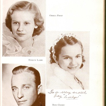 Bing Crosby signed yearbook  - Photographs