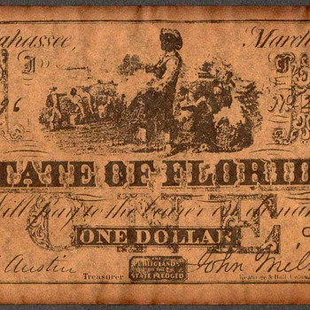 Confederate Currency - Novelty Note (Florida) - US Paper Money