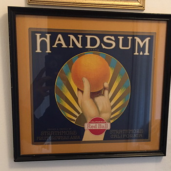 Handsum Brand California Red Ball Litho. - Advertising
