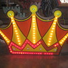 Vintage 1950's DOUBLE SIDED CROWN Lighted Sign / RARE Art Piece! - Antique
