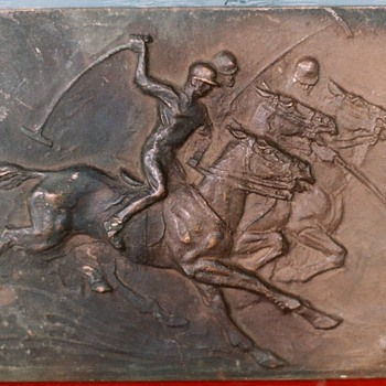 1900's to 1930's Horses  Polo Plaque Pattern to make plaques!! - Animals