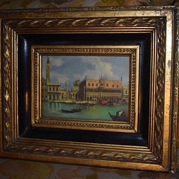 Framed painting of Venice - Fine Art