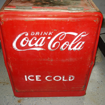 Coca Cola ice cold drink ice box - Coca-Cola