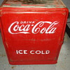 Coca Cola ice cold drink ice box
