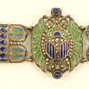 Deco Plique a Jour Egyptian Revival Bracelet -- another one!