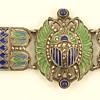 Deco Plique a Jour Egyptian Revival Bracelet -- another one!