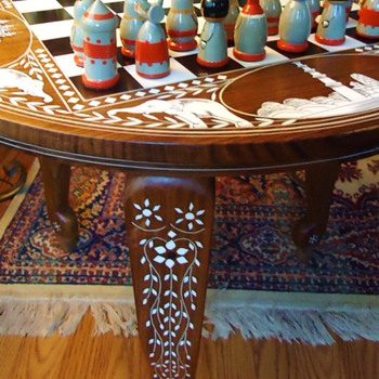 # 13829262 - Inlaid Wood Table	$29.99	1	$29.99  Chess table from India