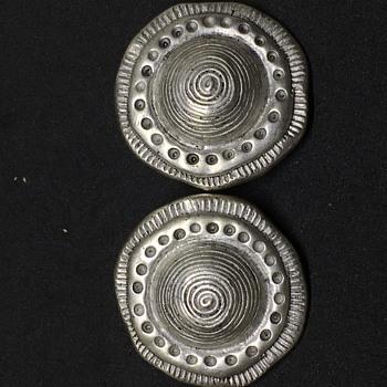 C Stein Clip-On Earrings  - Costume Jewelry