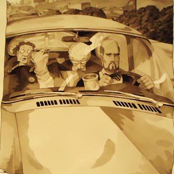Jim Adams!  Laugh, Laugh, Laugh!  Original painting and print!  interesting! - Posters and Prints