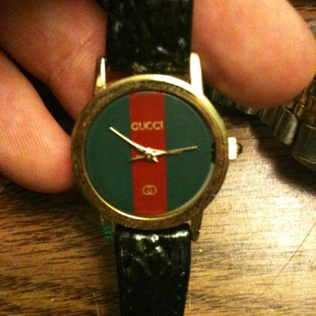 Gucci Watch, Leather. - Wristwatches