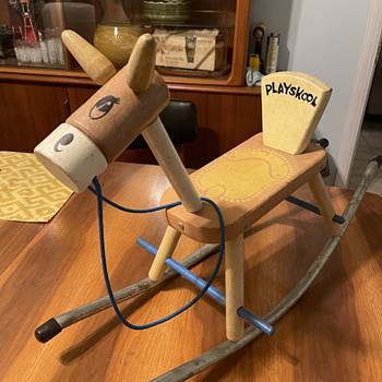 1960's Playskool Rocking Horse - Toys
