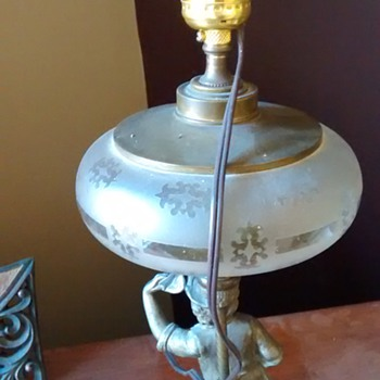 Newsboy Lamp with Globe Removed