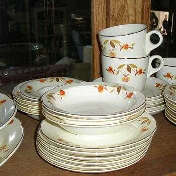 Jewel Tea Autumn Leaf Dishes - China and Dinnerware