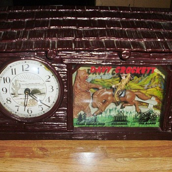 One of my Rarest Clocks... Davy Crockett by Haddon - Clocks