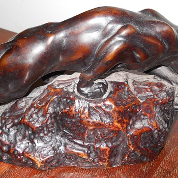 Old French Art Deco Panther Statue - Art Deco