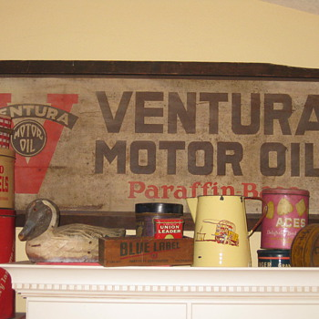 Old Ventura Motor Oil Sign  - Signs