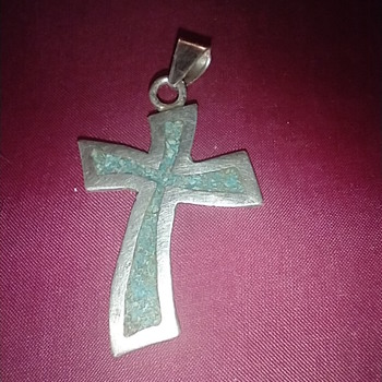 60s or 70s silver and turquoise cross? - Fine Jewelry