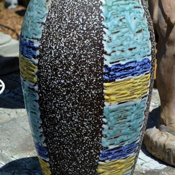 "Carstens Tönnieshof Vase - Fat Lava - West German - 15"" tall - Mid-Century Modern"