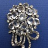 Vintage Crystal & Rhinestone Brooch Possibly Unsigned Pennino