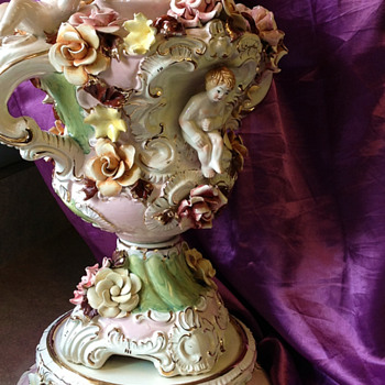 Porcelain Lamp-Italian and Old
