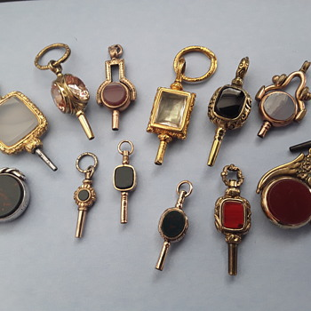 Some of my Pocket watch keys  - Pocket Watches
