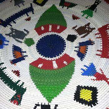 Americana folk art plate- is it old? Need info - Folk Art