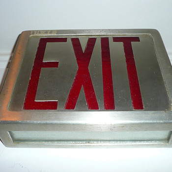 Exit Sign 1950's - Signs