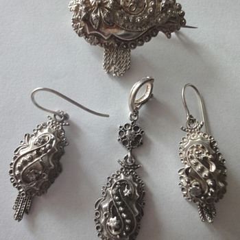 Dutch Silver Antique Peasant Set (Parure) - Fine Jewelry