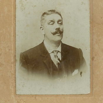 Man with semi-closed eyes