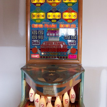 1958 Super-Frame Bowler by Chicago Coin Machine Company - Coin Operated