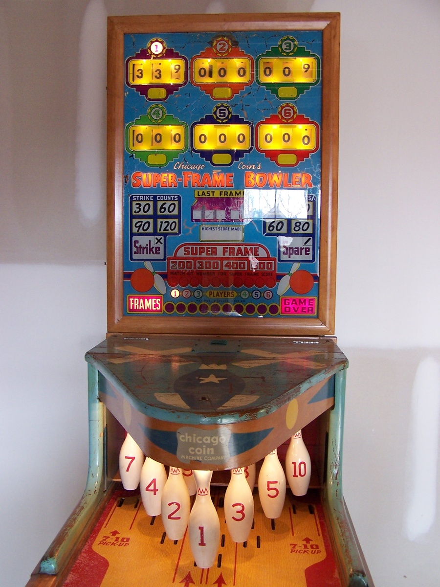1958 Super-Frame Bowler by Chicago Coin Machine Company | Collectors ...