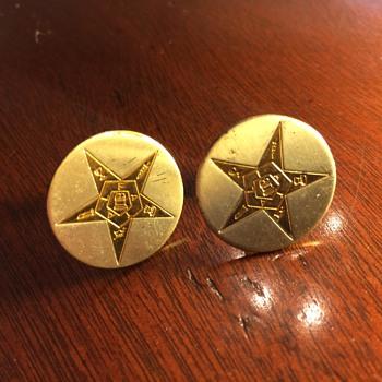 Order of the Eastern Star Cufflinks: Random Swap Meet Find