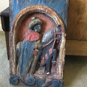 Old wood carving.  - Folk Art