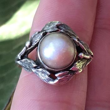 Bernard Instone Silver Pearl Ring