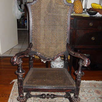 William and Mary Oak armchair (circa late 17th to early 18th century) - Furniture