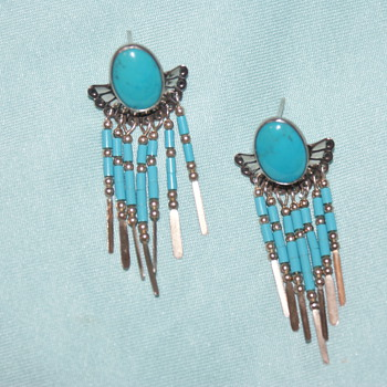 Sterling Earrings - Beautiful Colour - Fine Jewelry