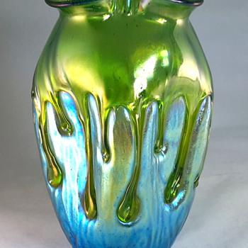 Loetz Creta mit Behängen 1900 PN II-519 - Art Glass