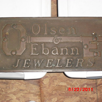 OLSEN & EBANN JEWELRY STORE SIGN - Signs