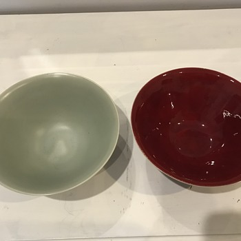 Ceramic bowls: Unknown Apple mark - Pottery