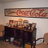 c. 1915 Canvas Coca-Cola Banner - Framed