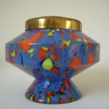Czech Art Deco Kralik Rose Bowl - Art Glass