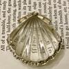 Crown Trifari Lucite Moonshell fur clip brooch