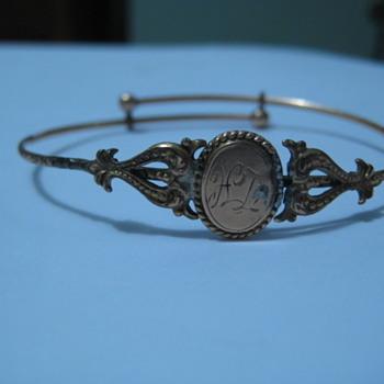 Vintage gold slide bracelet - Fine Jewelry