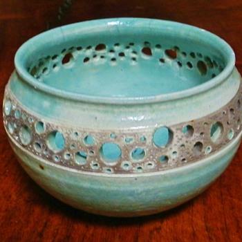 My New Raku Seafoam Pot - Pottery