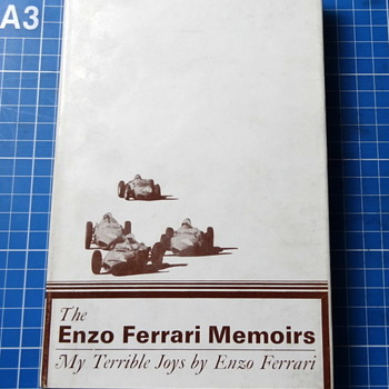 Enzo Ferrari Memoirs: My Terrible Joys  - Books